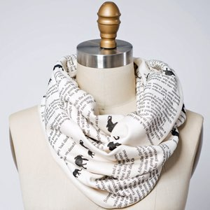 Leaving Time book scarf